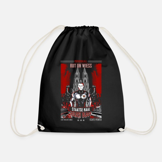 Birthday Bags & Backpacks - Cologne Cathedral strong man gift - Drawstring Bag black