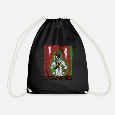 Country cinco de mayo - 5 de mayo astronaut - Drawstring Bag