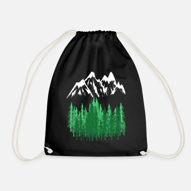 Mountains Mountains Mountains mountaineering - Drawstring Bag
