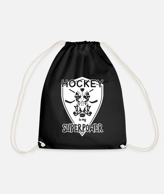 Floor Hockey Bags & Backpacks - Hockey Hockey Hockey Hockey - Drawstring Bag black