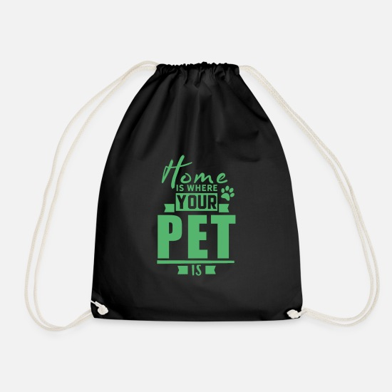 Pets Bags & Backpacks - Cat Dog Pets Pet Pets - Drawstring Bag black
