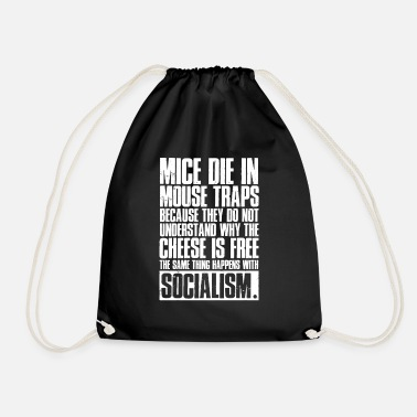 Anti ANTI-SOCIALISM T-SHIRT - Drawstring Bag