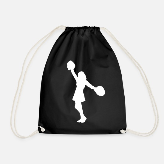 Cheerleading Bags & Backpacks - Cheerleader cheerleader - Drawstring Bag black
