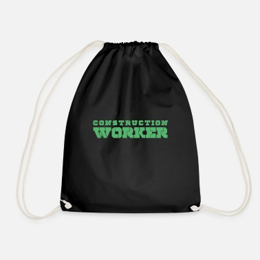 Construction Worker Construction worker construction work worker construction construction worker - Drawstring Bag