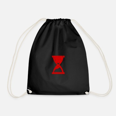 Hour Glass Hours of glass structures red gift - Drawstring Bag