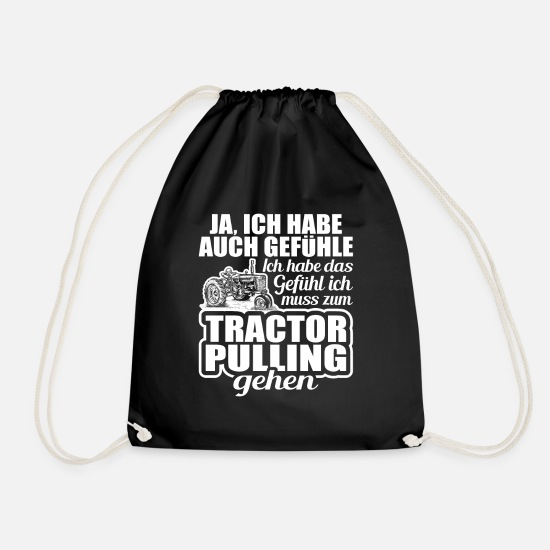 Gift Idea Bags & Backpacks - Tractor pulling - Drawstring Bag black