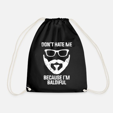Hair Bald beard hate - Drawstring Bag