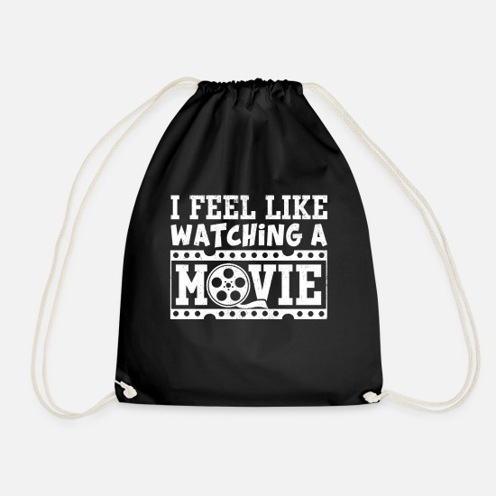 Gift Idea Bags & Backpacks - Movies Funny Sayings Cinema Cool movie fans gift - Drawstring Bag black