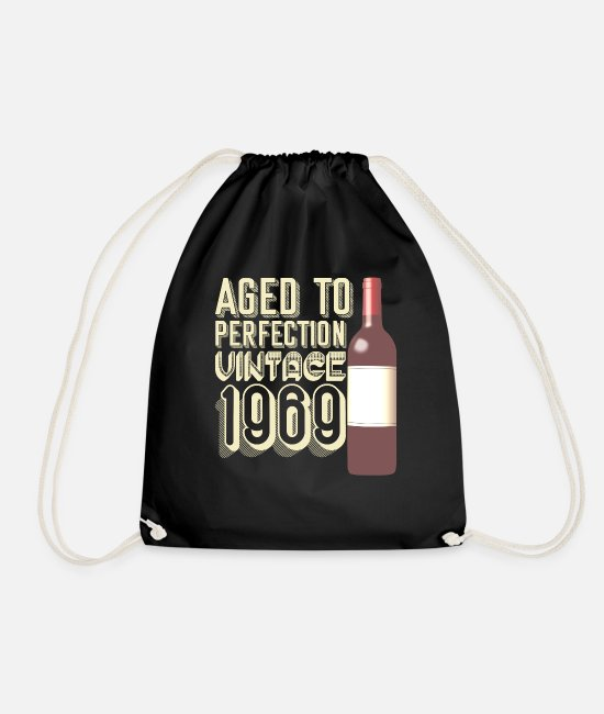 Birthday Bags & Backpacks - Birthday present for the 50th birthday - Drawstring Bag black