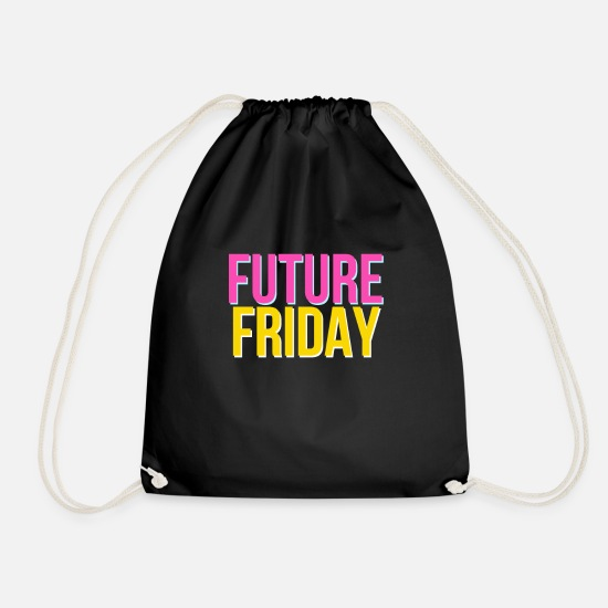 New Bags & Backpacks - Future Friday - Fridays For Future - Drawstring Bag black