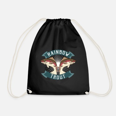 Trout Rainbow trout, trout fishing - Drawstring Bag