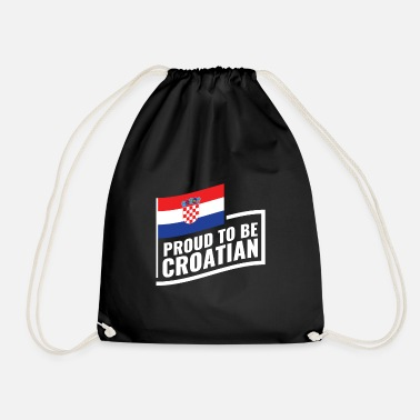 Proud to be Croat! Gift idea Croatia - Drawstring Bag