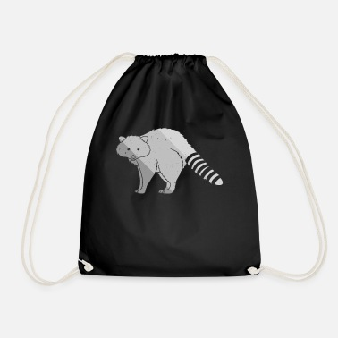 Birthday Kids Raccoon Sweet petty bear animal love - Drawstring Bag