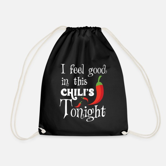 Gift Idea Bags & Backpacks - Chilli chili pepper - Drawstring Bag black