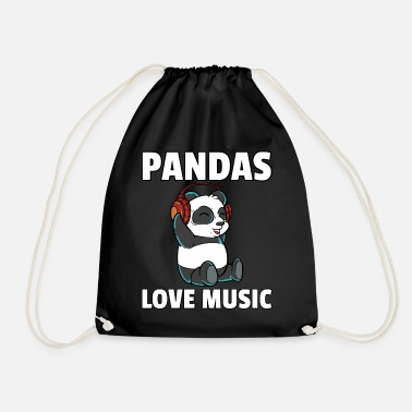Wireless Headphones Panda Music Headphones Beats Earbuds - Drawstring Bag