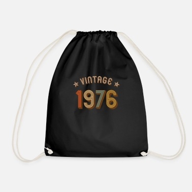 1976 1976 vintage retro vintage year of birth birthday - Drawstring Bag