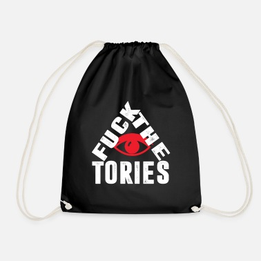 Uk Election Fuck The Tories Boris Election Funny Anti Tory - Drawstring Bag