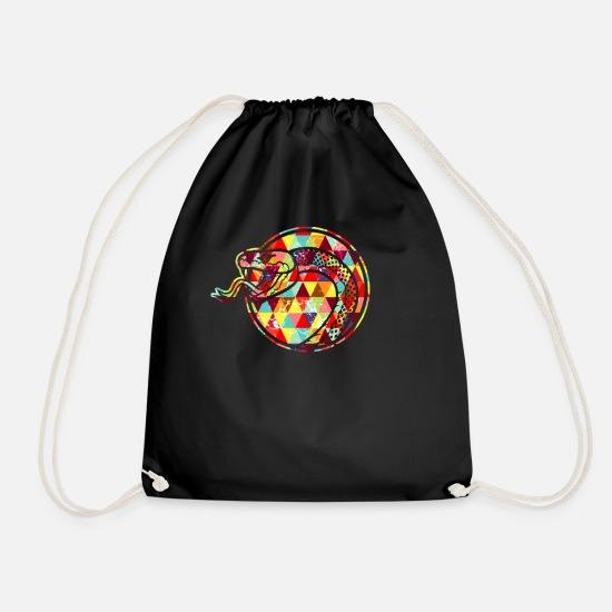 Pet Bags & Backpacks - Snake head snake venomous vipers reptiles - Drawstring Bag black