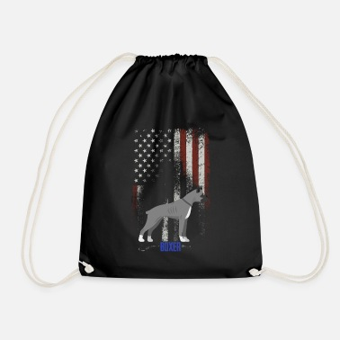 Boxer America boxer dog flag as a gift - Drawstring Bag