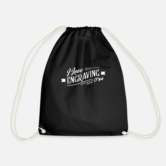 Gift Idea Bags & Backpacks - Engraver Engraver Engraving Team Engraving - Drawstring Bag black