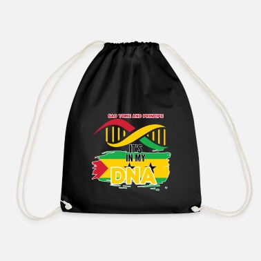 Sao Tome And Principe sao tome and principe is in my DNA - Drawstring Bag