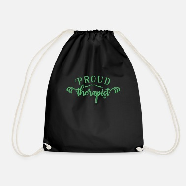 Therapist Therapy team therapist therapist therapist - Drawstring Bag