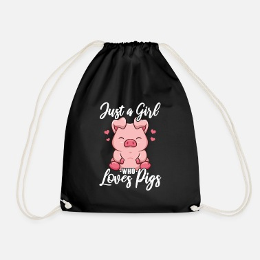 Love Pigs Piglet Piglet Pig - Drawstring Bag