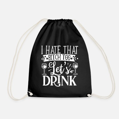 Red Wine red wine - Drawstring Bag