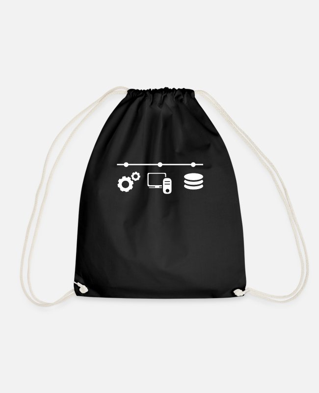 Programmemer Bags & Backpacks - computer - Drawstring Bag black