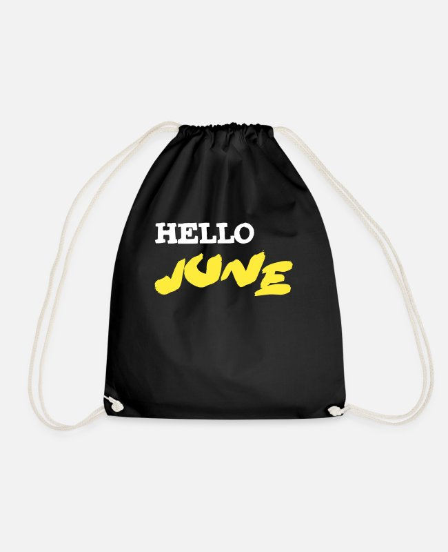 02 Bags & Backpacks - June 2002 June 18th birthday gift - Drawstring Bag black