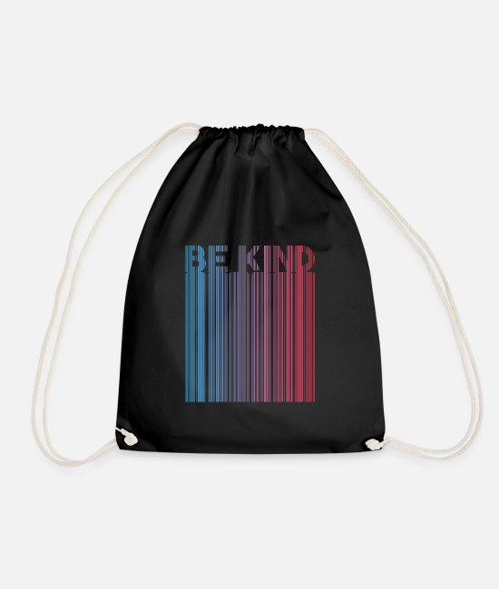 Hipster Bags & Backpacks - BE CHILD - Drawstring Bag black