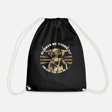 Two Shaggy Highland Cattle - Drawstring Bag