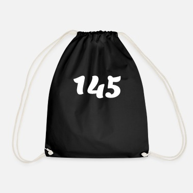 Age One Hundred Forty Five 145, 145, nombre, 145, cent - Drawstring Bag