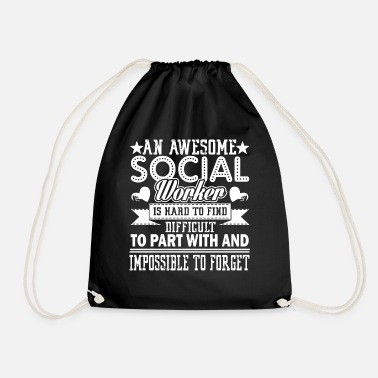 Lovely Social Worker Awesome Social Worker - Drawstring Bag