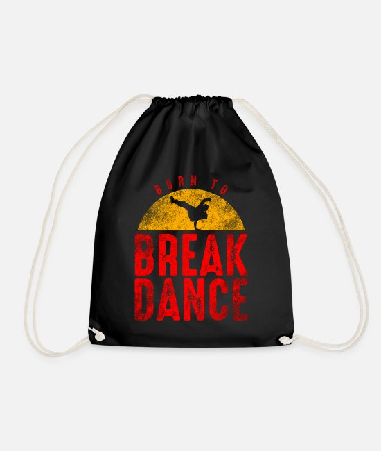 Rap Bags & Backpacks - Breakdance dancing hip hop rap 80s 90s - Drawstring Bag black