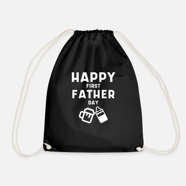 Sarcasm Mens First Father's Day Cool Cute Fathers Day Gift - Drawstring Bag