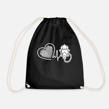 Fire Fighter Fire Fighter Fire Fighter Heartbeat - Drawstring Bag