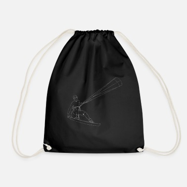 Kite surfing - Drawstring Bag