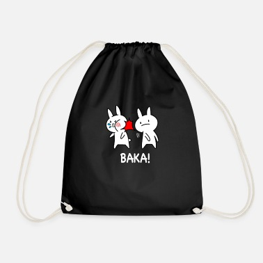 Funny Baka Japan Baka rabbits anime - Drawstring Bag