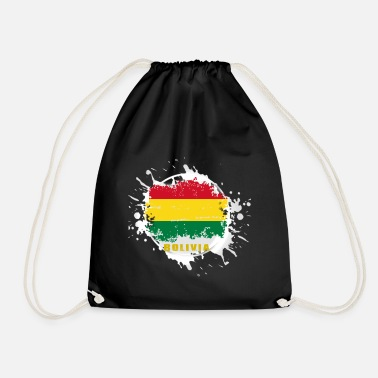 Language bolivia flag with blob - Drawstring Bag