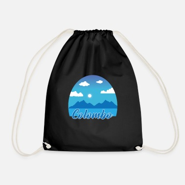 Colombo dream vacation in blue - Drawstring Bag