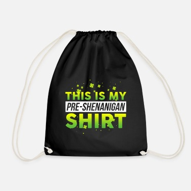 Loving Comment Day This is My Pre Shenanigans design St Patricks Day - Drawstring Bag