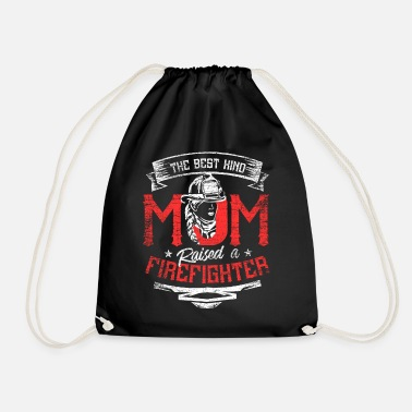 Cut Out Firefighter woman - Drawstring Bag