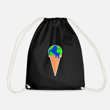 Polar Climate protection motive gift against climate change - Drawstring Bag