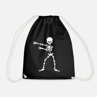 The floss dance flossing backpack boy kid skeleton - Drawstring Bag