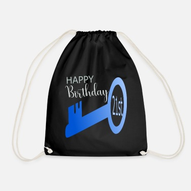 21st Birthday 21st birthday - Drawstring Bag