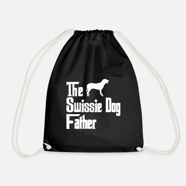 Male Puppy Dog Puppy Greater Swiss Mountain Dog dogs father dad - Drawstring Bag