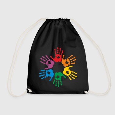 Rainbow hands - Drawstring Bag