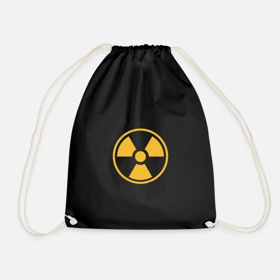 Radioactive Bags & Backpacks - Nuclear power environment - Drawstring Bag black