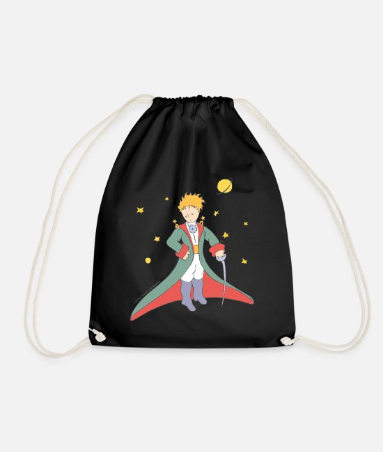 Drawing Bags & Backpacks - The Little Prince Portrait Illustration - Drawstring Bag black